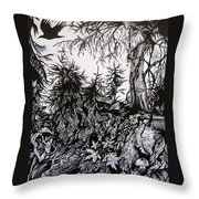 Dreaming Alaska.part One Throw Pillow