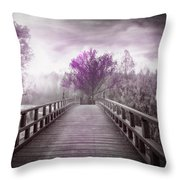 Dreaming At Dawn In Pink Throw Pillow