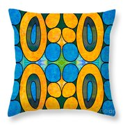 Dreaming In Circles Abstract Hard Candy Art By Omashte Throw Pillow