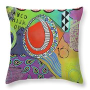 Dreaming In Colour Throw Pillow
