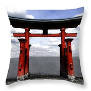 Dreaming In Japan Throw Pillow