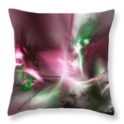 Dreaming In Red And Green Throw Pillow