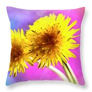 Dreaming Of Dandelions Throw Pillow