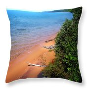 Dreaming Of Lake Michigan Throw Pillow