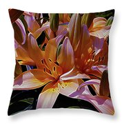 Dreaming Of Lilies 5 Throw Pillow