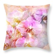 Dreaming Of Orchids Throw Pillow