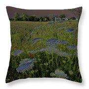 Dreaming Of Queen Annes Lace Throw Pillow