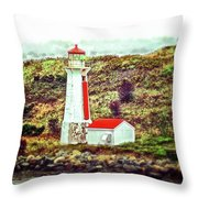 Dreaming Of The Georges Island Light In Halifax Throw Pillow