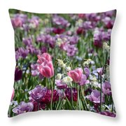 Dreaming Of Tulips Throw Pillow