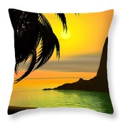 Dreaming On A Cold January Day Throw Pillow