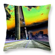 Dreaming Over The Skyway Throw Pillow
