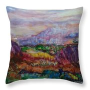 Dreaming Pikes Peak Throw Pillow