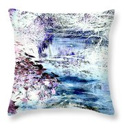Dreaming River Throw Pillow