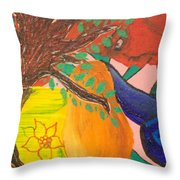 Dreaming Tree Abstract Throw Pillow