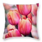Dreaming Tulips Throw Pillow