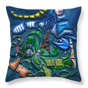 Dreaming With The Fishes Throw Pillow