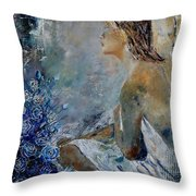 Dreaming Young Girl Throw Pillow