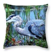 Dreamland Great Blue Heron Throw Pillow