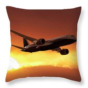 Dreamliner In The Sun Throw Pillow