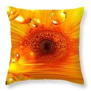 Dreams 2 - Gerbera Sunrise Throw Pillow
