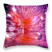Dreams 3 Chrysanthemum Throw Pillow