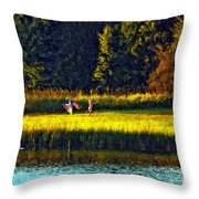Dreams Can Fly Impasto Throw Pillow