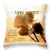 Dreams In Roses - Vintage - Verse Throw Pillow