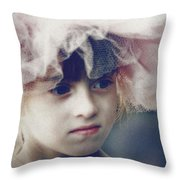 Dreams In Tulle 2 Throw Pillow