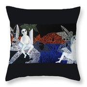 Dreams Of Broken Dolls Throw Pillow