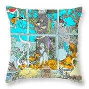 Dreams Of Fish Throw Pillow