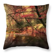 Dreamy Autumn Forest Throw Pillow
