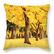 Dreamy Autumn Gold Throw Pillow