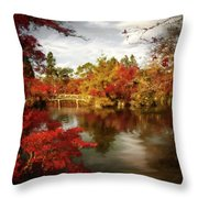 Dreamy Autumn Impressionism Throw Pillow