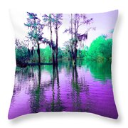 Dreamy Bayou Sorrel Throw Pillow