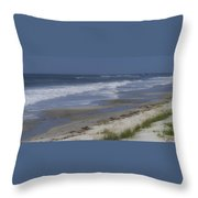 Dreamy Beach In North Carolina Throw Pillow