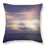 Dreamy Blue Atlantic Sunrise Throw Pillow