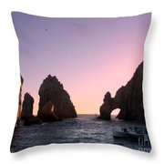 Dreamy Cabo Sunset The Arch Throw Pillow