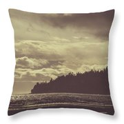 Dreamy Coastline Throw Pillow