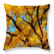 Dreamy Crisp Autumn Day Throw Pillow