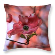 Dreamy Dogwood Throw Pillow