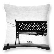 Dreamy Fishing Spot Throw Pillow