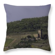 Dreamy Gutenfels Castle Throw Pillow
