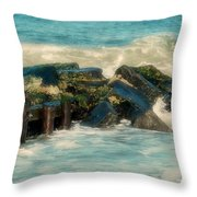 Dreamy Jetty - Jersey Shore Throw Pillow