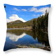Dreamy Lake In The Rockies Throw Pillow