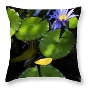 Dreamy Lotus Throw Pillow