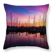 Dreamy Marina Throw Pillow