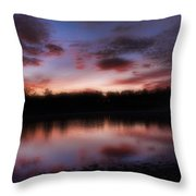 Dreamy Morning View Throw Pillow