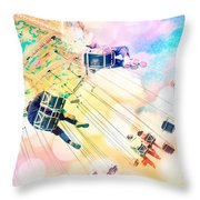 Dreamy Pastel Carnival Throw Pillow