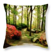 Dreamy Path Throw Pillow