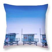 Dreamy Santa Monica Beach Throw Pillow